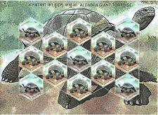 INDIA 2008 TYPE 1  (Rs. 15 x 8) ALDABRA GIANT TORTOISE SETENANT STAMP SHEETLET