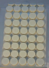 200 X Bianco Self Adesivo Appiccicoso CD / DVD / BLU RAY DISC Schiuma titolari / Dots / borchie
