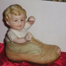 Lefton China HP Baby in a Shoe Mkd