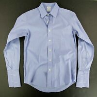 Brooks Brothers Blue French Cuffs Button Down 15-33 Milano Fit Extra Slim Fit