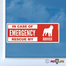 In Case of Emergency Rescue My Bouvier Sticker Die Cut Vinyl - dog des Flandres