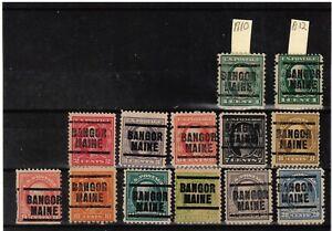 JimbosStamps, U.S.precancels,1917 Wash. Frank. issues , BANGOR MAINE