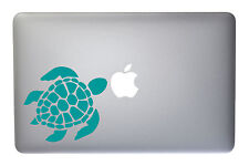 Lovable Sea Turtle Turquoise Vinyl 5 Inch Decal for Macbook, Laptop