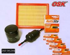 FORD FIESTA WQ 1.6L DURA TEC OIL AIR FUEL FILTER SERVICE KIT+spark plugs 06-08