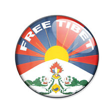 Badge FREE TIBET peace paix respect bouddhisme tibétain thibet pins button Ø25mm