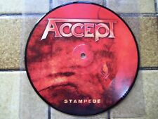 """lot 2 X pic picture disc 7"""" ACCEPT """"Stampede"""" + """"Final journey"""" NEUFS ! HOFFMANN"""
