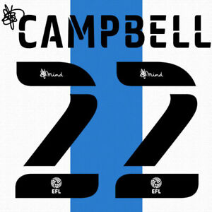 2020 2021 OFFICIAL HUDDERSFIELD TOWN HOME NAME SET CAMPBELL 22 = PLAYER SIZE