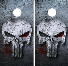 The Punisher Cornhole Board Skin Wrap Decal Set FREE SQUEEGEE