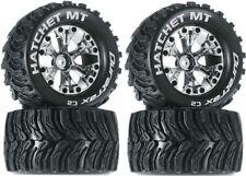NEW Duratrax Hatchet MT Tires Wheels 4WD Stampede Savage XS Flux F / R (4)
