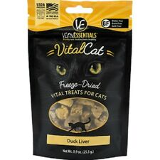 Vital Essentials FREEZE DRIED DUCK LIVER Cat Treats .9 oz