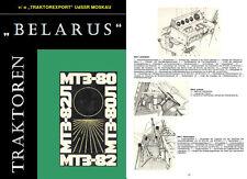Betriebsanleitung Handbuch Anleitung Traktor Belarus MTS 80 MTS 82 IFA DDR
