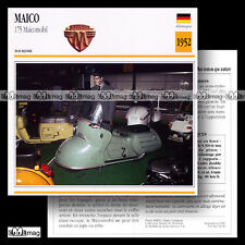 #053.09 MAÏCO 175 MAICOMOBIL 1952 Fiche Moto Motorcycle Card