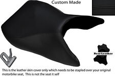 BLACK STITCH CUSTOM FITS SUZUKI TL 1000 S 97-01 FRONT LEATHER SEAT COVER
