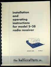 Hallicrafters S-38 S38 Improved Manual