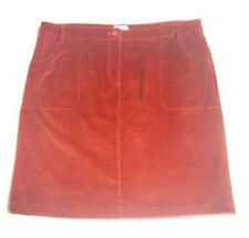 Corduray Skirt A-line Stretched Cotton Autumn Leaf Plus Size Zipped Casual NWOT