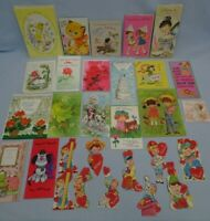 Vintage Greeting Cards Lot 30 All Unused some env Birthday Valentine Get Well +