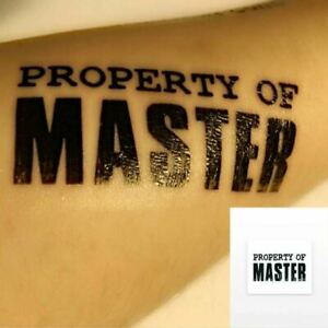 BDSM Property of Master Temporary Tattoos Adult Games