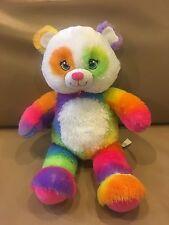 "Build a Bear Rainbow Pop of Color Panda 17"" stuffed animal Plush"