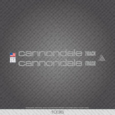 01036 Cannondale Track Bicycle Stickers - Decals - Transfers - Silver
