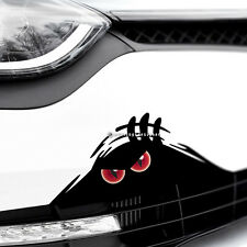 MONSTER DEVIL EYES PEEPER Scary Funny Car,Van,Bumper JDM DUB Vinyl Decal Sticker