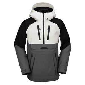 Volcom Mens Brighton Pullover Technical Snow Jacket Grey