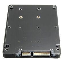 "Mini PCI-E mSATA SSD vers 7 mm 2.5"" SATA 22pin disque dur adaptateur convertisseur avec étui"