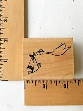 Penny Black Rubber Stamp - New Arrival - Stork Baby - 3426F - NEW