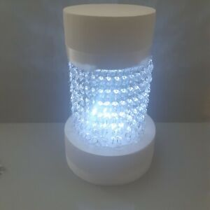 Crystal Style Acrylic Cake Separator Kit with LED Lights & Crystals - Round