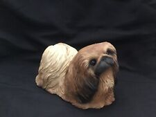 Sandicast 1984 Collectible Dog Sculpture Pekingese S. Brue Signed