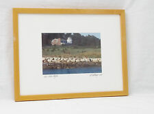 Roch Harbor Angler David Ritchey Signed/Matted/Framed Fine Art Photography