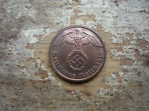 1 Reichspfennig 1939 (A) Uncirculated Third Reich Germany WW II Coin by #castor