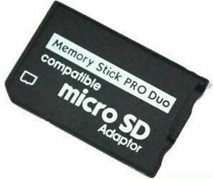 MICRO SD TF TO PRO DUO MEMORY STICK ADAPTER FOR PSP SONY CAMS UK STOCK