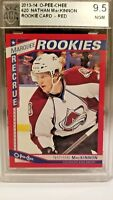 Nathan MacKinnon 13-14 UD O-Pee-Chee Marquee Rookies RED # 620 9.5 BGS Mackinnon