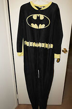 BATGIRL Women's Pajama Sleepwear 3D Footie Suit Black/Yellow Size XL (15/17) NWT
