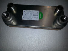 """OUTDOOR WOOD BOILER BRAZED PLATE HEAT EXCHANGER 30 Plate w 1"""" REDUCER FITTINGS"""