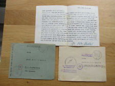 2 Feldpostbriefe / Abwicklungsstab / vermisst nach Panzerangriff 12.1944