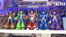 BOOTLEG - Megaman Rockman Action Figure X4 Set of FIVE - HIGH QUALITY - RARE