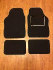 UNIVERSAL CAR FLOOR MATS - BLACK WITH GREY TRIM FOR HONDA S2000 NSX CR-X CR-Z