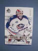 Anton Forsberg SP Authentic Future Watch Rookie Card # 256. Winnipeg Jets
