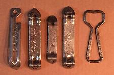 Collectible And Unique Beer Bottle Can Openers, Lot of 5
