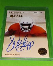 WARREN SAPP 2011 Press Pass  Legends of the Fall on card Autograph #/150 Miami