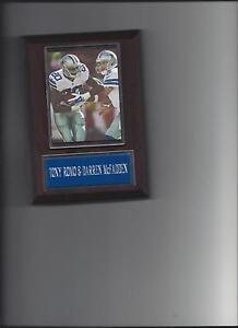 TONY ROMO & DARREN McFADDEN PLAQUE DALLAS COWBOYS FOOTBALL NFL