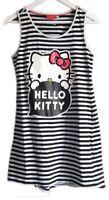 Hello Kitty Black White Monochrome Striped Breton Vest Dress or Long Top S 10 12
