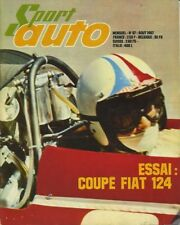 SPORT AUTO n°67 08/1967 GP FRANCE & ANGLETERRE 12h REIMS FIAT 124 coupé+