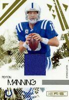 Peyton Manning 2009 Donruss Rookies and Stars Longevity Jersey Relic HOF