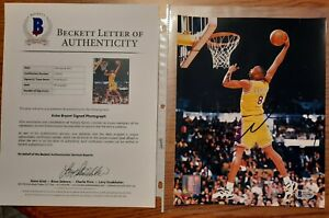 Kobe Bryant Autographed 8x10 Color Photo Beckett LOA