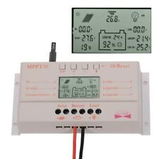 30A MPPT Solar Panel Regulator Battery Charger Controller 12V/24V With LCD JS