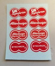 Stickers Decals for Vintage Altenburger Synchron Bicycle Brakes (Red)