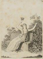 "CHODOWIECKI (1726-1801). Madame Unzelmann Schauspiel ""Nina, Wahnsinn aus Liebe""1"