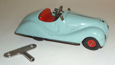ORIGINAL VINTAGE 1940's SCHUCO AKUSTICO 2002 TIN WIND-UP KEY SKY BLUE BMW 328